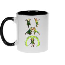 Mugs  parodique Link, Peter Pan et Legolas : La naissance du Chevalier parfait... FUSION ! YAHAAAA ! (Parodie )