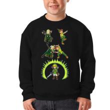 Sweat-shirts  parodique Link, Peter Pan et Legolas : La naissance du Chevalier parfait... FUSION ! YAHAAAA ! (Parodie )