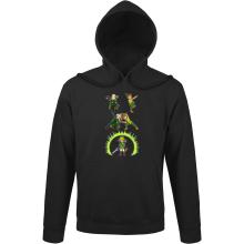 Sweats à capuche  parodique Link, Peter Pan et Legolas : La naissance du Chevalier parfait... FUSION ! YAHAAAA ! (Parodie )