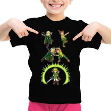 T-shirts  parodique Link, Peter Pan et Legolas : La naissance du Chevalier parfait... FUSION ! YAHAAAA ! (Parodie )