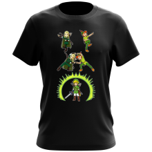 T-shirt  parodique Link, Peter Pan et Legolas : La naissance du Chevalier parfait... FUSION ! YAHAAAA ! (Parodie )