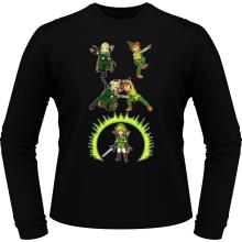 T-Shirts à manches longues  parodique Link, Peter Pan et Legolas : La naissance du Chevalier parfait... FUSION ! YAHAAAA ! (Parodie )