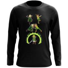 T-Shirt à manches longues  parodique Link, Peter Pan et Legolas : La naissance du Chevalier parfait... FUSION ! YAHAAAA ! (Parodie )