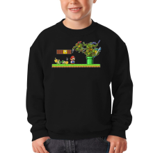 Sweat-shirts  parodique Donatello,Leonardo,Raphael, Michelangelo et Mario : La Revanche des Tortues ! (Parodie )