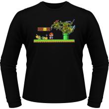 T-Shirts à manches longues  parodique Donatello,Leonardo,Raphael, Michelangelo et Mario : La Revanche des Tortues ! (Parodie )