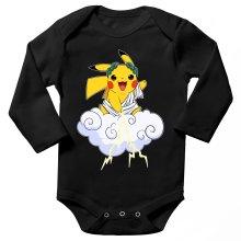 Body bébé manches longues  parodique Pikachu sauce Zeus, le Dieu du Tonnerre : Le Dieu du Tonerre :) (Parodie )