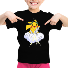 T-shirt Enfant Fille  parodique Pikachu sauce Zeus, le Dieu du Tonnerre : Le Dieu du Tonerre :) (Parodie )