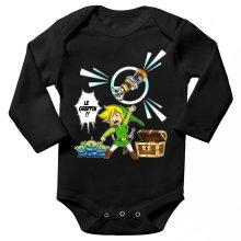 Body bébé manches longues  parodique Link et les Aliens : Le Grappin... !! (Parodie )