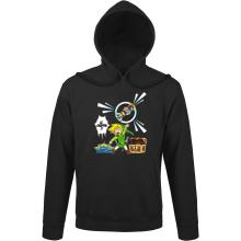 Sweat à capuche  parodique Link et les Aliens : Le Grappin... !! (Parodie )