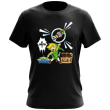 T-shirt  parodique Link et les Aliens : Le Grappin... !! (Parodie )
