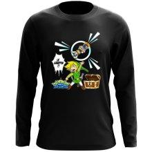 T-Shirt à manches longues  parodique Link et les Aliens : Le Grappin... !! (Parodie )