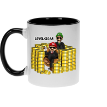 Mugs  parodique Mario et Luigi : Level Clear :) (Parodie )