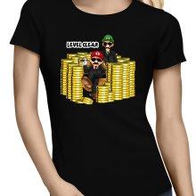 T-shirts Femmes  parodique Mario et Luigi : Level Clear :) (Parodie )