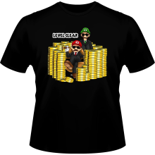 T-shirts  parodique Mario et Luigi : Level Clear :) (Parodie )