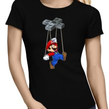 T-shirts Femmes  parodique Mario : Mario-nette ON (Parodie )