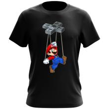 T-shirt  parodique Mario : Mario-nette ON (Parodie )