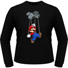T-Shirts à manches longues  parodique Mario : Mario-nette ON (Parodie )