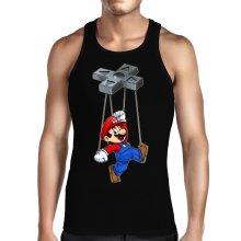 Débardeurs  parodique Mario : Mario-nette ON (Parodie )