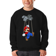 Sweat-shirts  parodique Mario : Mario-nette ON (Parodie )