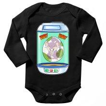 Body bébé manches longues  parodique Rattata : Nyark nyark !! (Parodie )
