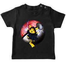 T-shirt bébé  parodique Pikachu et Dark Sidious aka Palpatine : Palpa-chu :) (Parodie )
