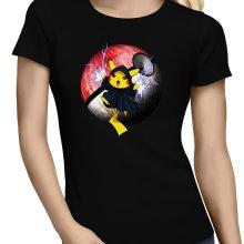 T-shirts Femmes  parodique Pikachu et Dark Sidious aka Palpatine : Palpa-chu :) (Parodie )