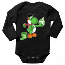 Funny Long sleeve Baby Bodysuit - Yoshi ( Parody)