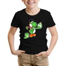 T-shirt Enfant  parodique Yoshi : Peinture fraîche... ;) (Parodie )