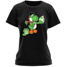 T-shirt Femme  parodique Yoshi : Peinture fraîche... ;) (Parodie )