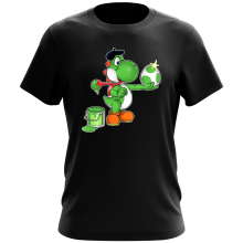 T-shirt  parodique Yoshi : Peinture fraîche... ;) (Parodie )