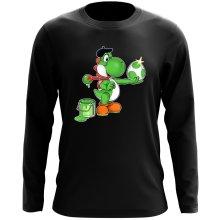 T-Shirt à manches longues  parodique Yoshi : Peinture fraîche... ;) (Parodie )