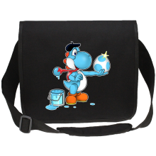 Sacs bandoulière  parodique Yoshi bleu clair : Peinture fraîche... (Version bleue claire) (Parodie )