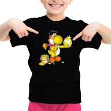 T-shirts  parodique Yoshi jaune : Peinture fraîche... (Version jaune) (Parodie )