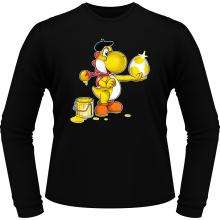 T-Shirts à manches longues  parodique Yoshi jaune : Peinture fraîche... (Version jaune) (Parodie )