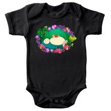 Funny Baby Bodysuit - Snorlax, Chibi Misty and Totoro ( Parody)