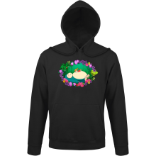 Funny Hoodie - Snorlax, Chibi Misty and Totoro ( Parody)