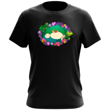 Funny T-Shirt - Snorlax, Chibi Misty and Totoro ( Parody)