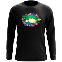 Funny Long Sleeve Top - Snorlax, Chibi Misty and Totoro ( Parody)