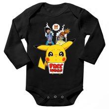 Body bébé manches longues  parodique Pikachu - Free Hugs : Pika Free Hugs :) (Parodie )