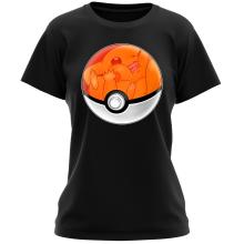 T-shirt Femme  parodique La Poké Ball de Pikachu : Pika Pas Cool ! (Parodie )