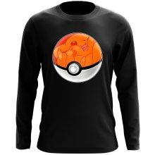 T-Shirt à manches longues  parodique La Poké Ball de Pikachu : Pika Pas Cool ! (Parodie )