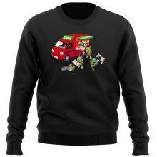 Pull  parodique Mario; Luigi; Leonardo, Raphael, Donatello et Michelangelo : Pizza Party ! (Parodie )