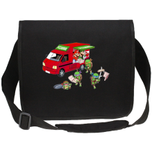 Sac bandoulière Canvas  parodique Mario; Luigi; Leonardo, Raphael, Donatello et Michelangelo : Pizza Party ! (Parodie )