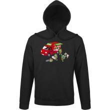 Sweats à capuche  parodique Mario; Luigi; Leonardo, Raphael, Donatello et Michelangelo : Pizza Party ! (Parodie )