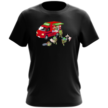 T-shirt  parodique Mario; Luigi; Leonardo, Raphael, Donatello et Michelangelo : Pizza Party ! (Parodie )