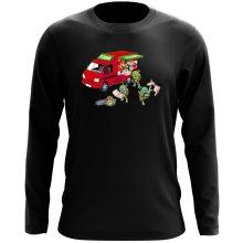 T-Shirt à manches longues  parodique Mario; Luigi; Leonardo, Raphael, Donatello et Michelangelo : Pizza Party ! (Parodie )