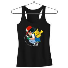 Débardeur Femme  parodique Pikachu : Plus de problème de batterie !! (Parodie )
