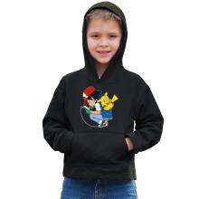 Sweat à capuche Enfant  parodique Pikachu : Plus de problème de batterie !! (Parodie )