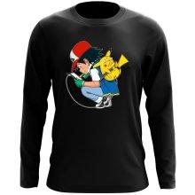 T-Shirt à manches longues  parodique Pikachu : Plus de problème de batterie !! (Parodie )