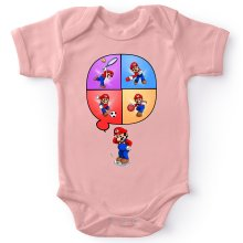 Funny  Baby Bodysuit (Baby Girls) - Mario and Wii Fit ( Parody) (Ref:783)